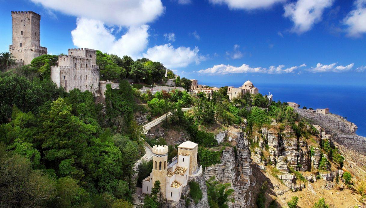 Monte Erice, vicino a Marsala, nella stupenda cornice dello Stagnone